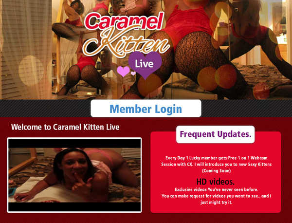Free Account In Caramel Kitten Live