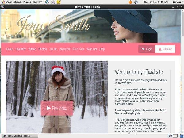 Jenysmith.net Account Trial